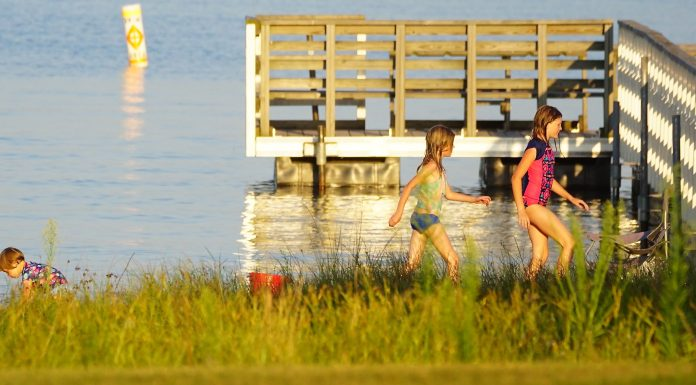 Shell Lake beach child kids family fun summer