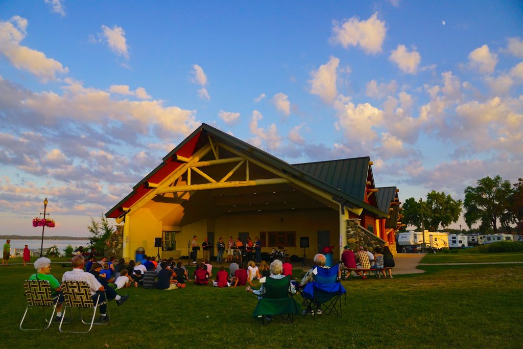 music in the park Shell Lake beach arts center slac